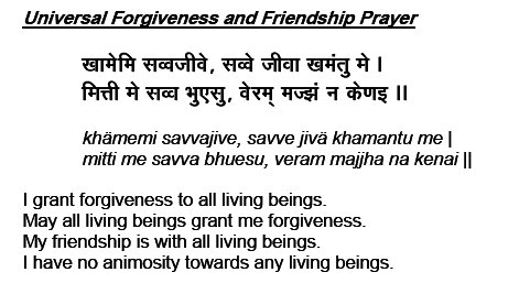 Jain Forgiveness Prayer